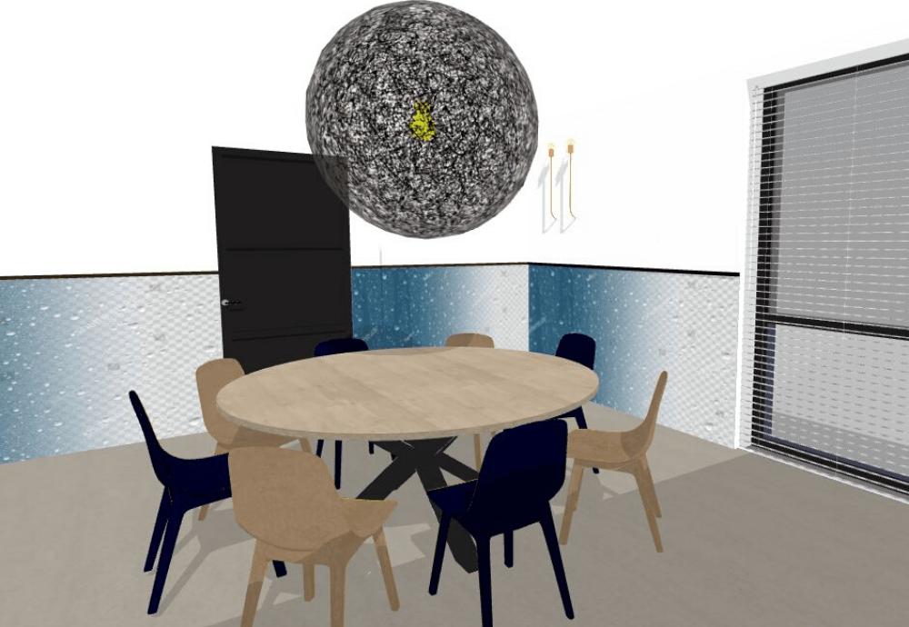 3D ontwerp kantoor kantine installatiebedrijf