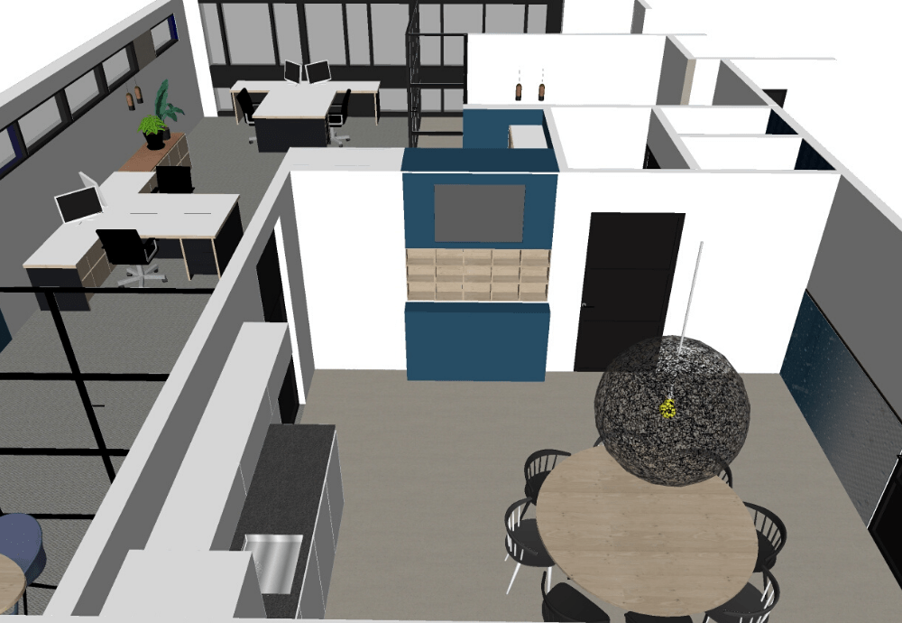 3D ontwerp kantoor installatiebedrijf