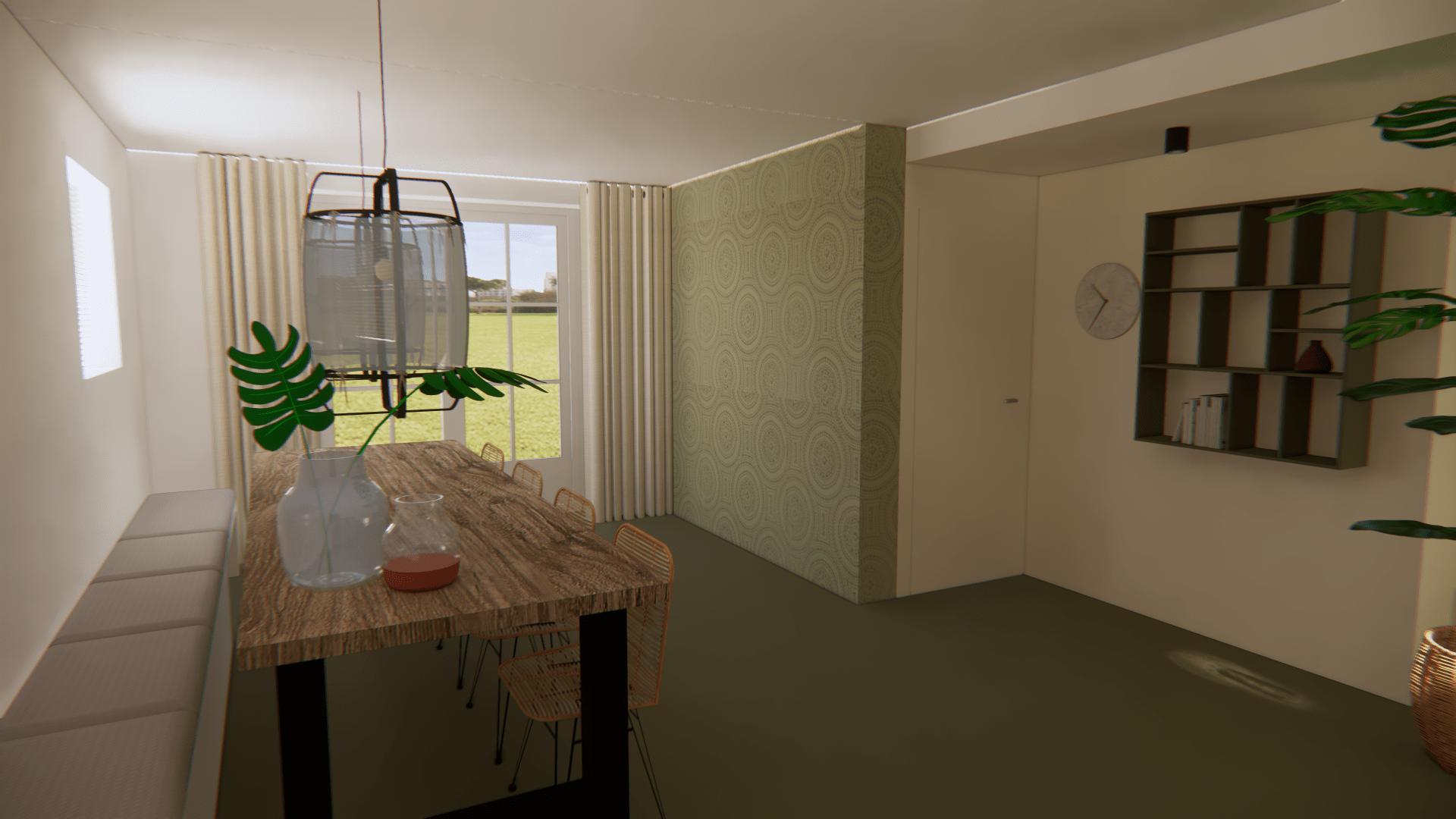 woonkeuken 3d ontwerp