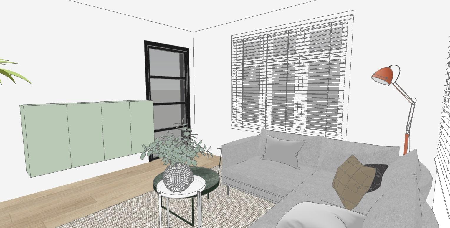 3d ontwerp woonruimte Broeksterwald
